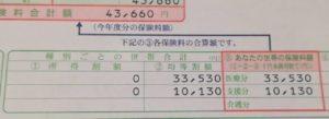 所得割額が0円?国民健康保険の納付書が届いた。