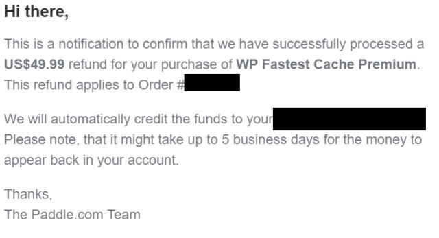 WP Fastest Cache(有料版)の返金手順と即対応されるまでまとめ!