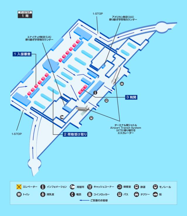 【連載・WDW旅行記③】シカゴ空港の入国審査とか乗り換え手順解説