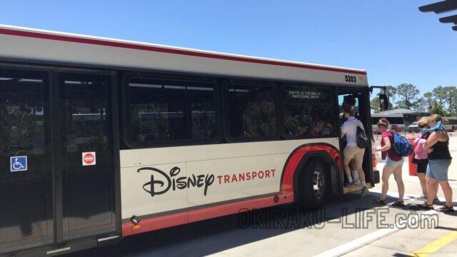 WDW 旅行記 思い出 ポップセンチュリー バス