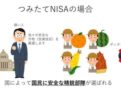 つみたてNISA 投資信託 違い 図解